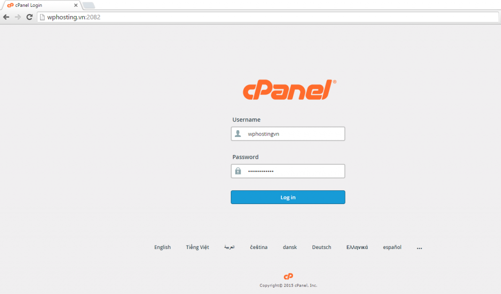 cPanel WordPress Hosting
