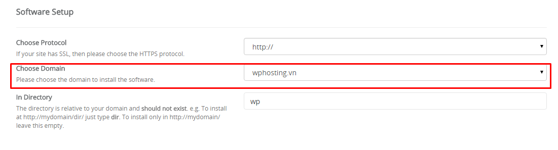 cPanel WordPress Hosting - WordPress - Cau hinh ten mien